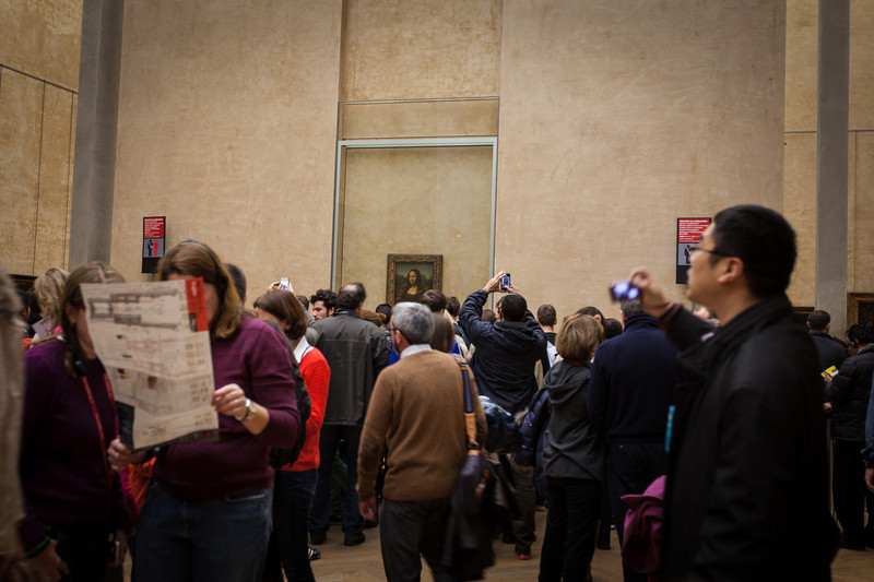 I've never really loved the Mona Lisa, so I wasn't prepared to fight my way through the swarms to get any closer. Take my art-license away.