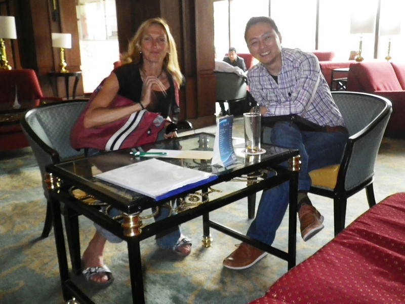 Billi Bierling, Himalayan Database secretary and Dawa Sherpa, Asian Trekking secretary.