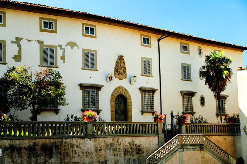 Fiesole, Italy – Tuscan Building - Here is an example of the architecture of Tuscany.  Even though this building is not very remarkable as a whole, you have got to love the location.