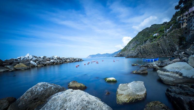 The port in Riomaggiore