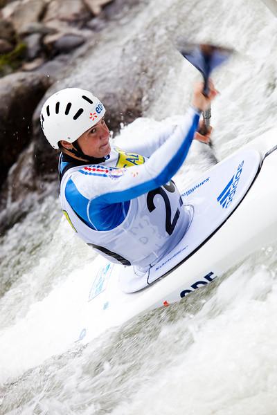 Emilie FER (France), K1 Heats - ICF Slalom World Cup 2010, La Seu d'Urgell (Spain)