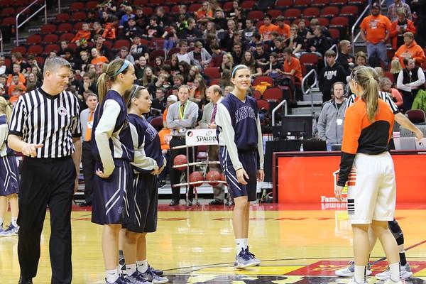 Grinnell vs. Xavier State Quarter Final Girls Basketball 2/28/17