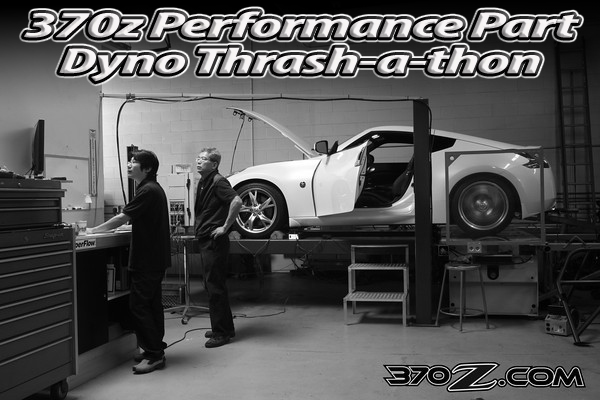 Dyno test 370Z Stillen exhaust, Stillen cold air intake, Beck high flow cats, Technosqaure ECU reflash