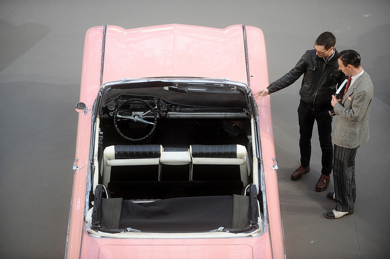 . A 1959 Cadillac Series 62 is displayed ahead of a sale of vintage cars by Bonhams auction house, at Le Grand Palais on February 5, 2014 in Paris, France.  (Photo by Antoine Antoniol/Getty Images)