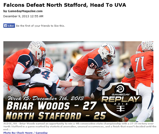 2013-12-09 -- Falcons Defeat North Stafford, Head to UVA.png