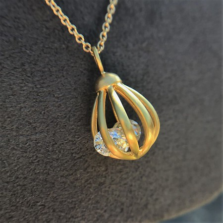 "1.20ctw Antique Diamond ""Cage"" Collection Necklace"