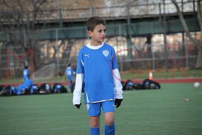 BROOKLYN - NOVEMBER 27: Players compete at  Brooklyn Italians Soccer Academy practice at John Dewey High School on Saturday, November 27, 2010 in Brooklyn, NY.