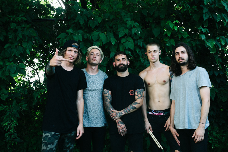 The Word Alive Backstage in Indianapolis, IN on Vans Warped Tour 2016