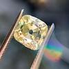 2.10ct Light Yellow Antique Peruzzi Cut Diamond, GIA W-X SI2 7