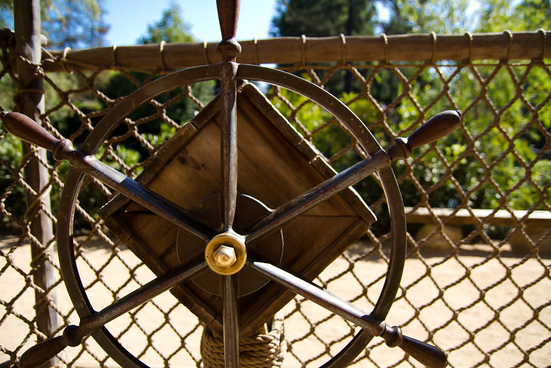 Ship's Wheel on Tom Sawyer's Island