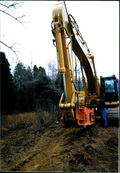 NPK E260A hydraulic hammer on Cat excavator 12-10-99 (1).JPG