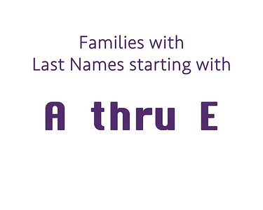 Family Last Name  A thru E