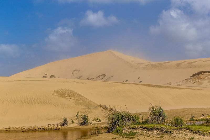 Sandsturm über der grossen Düne