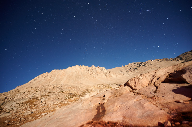 Mt. Whitney by moonlight