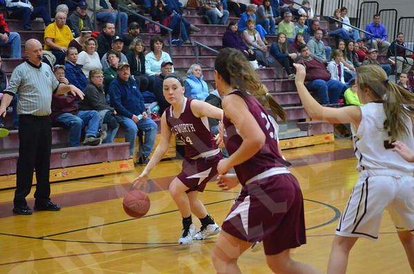 Girls' basketball: Ellsworth vs. Caribou 1/24/2015