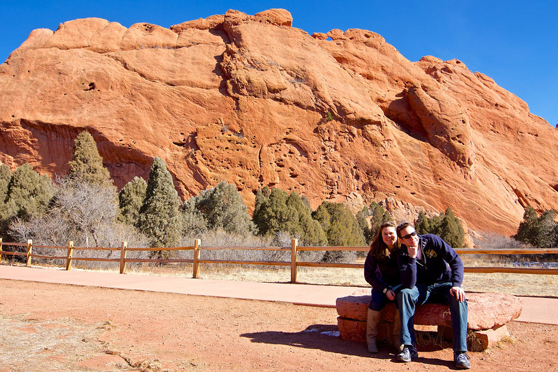 At the Garden of the Gods park.