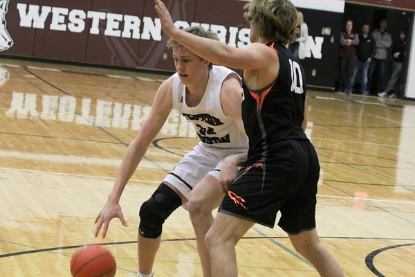 Western Christian boys' basketball 2-14-19 (Class 2A District 16 boys' basketball tournaments)