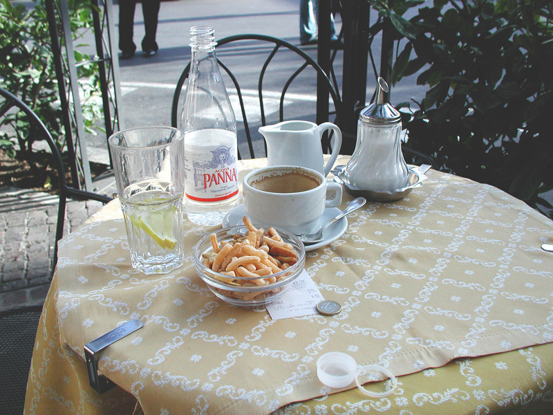 Ahh, Morning Coffee, Naples, Italy.
