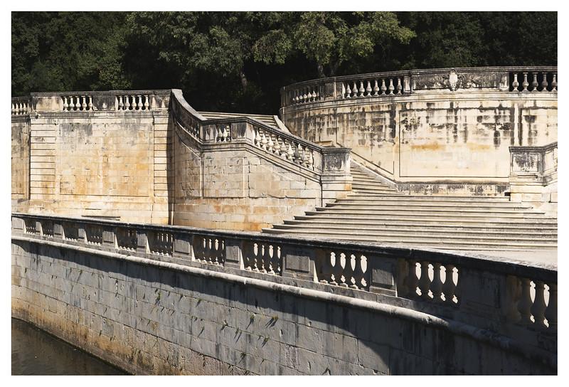 Steps near the Roman fountains in Nimes.