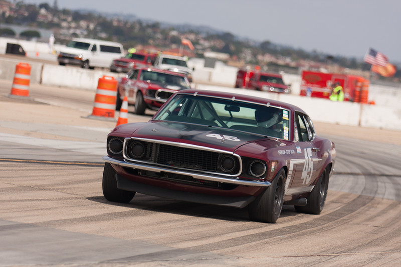 Ken Adams in his 1969 Ford Boss 302 Mustang. © 2014 Victor Varela