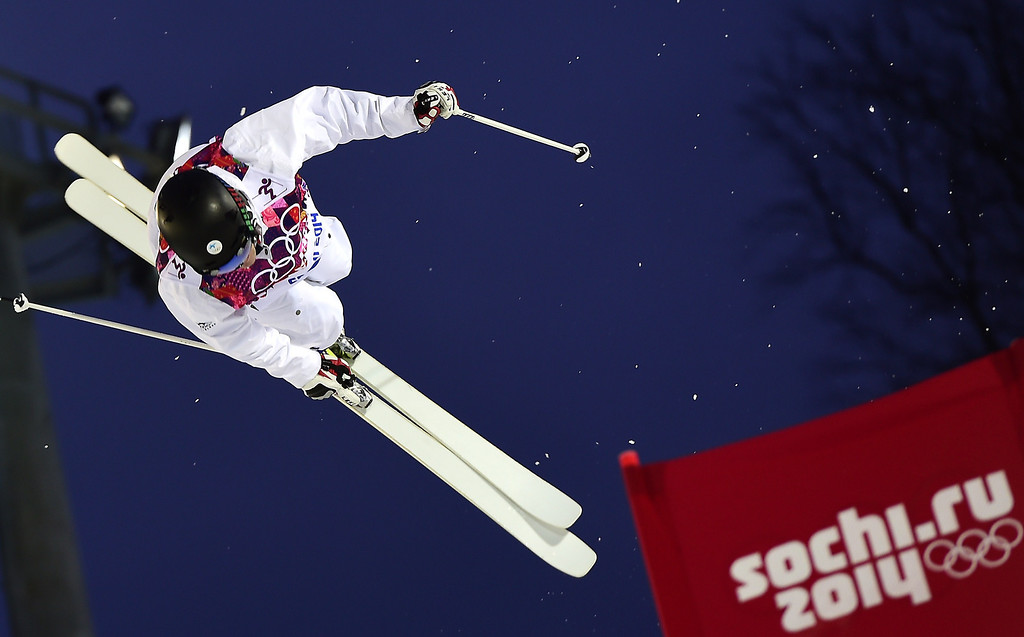 . Finland\'s Jussi Penttala competes in the Men\'s Freestyle Skiing Moguls qualifications at the Rosa Khutor Extreme Park during the Sochi Winter Olympics on February 10, 2014.      AFP PHOTO / JAVIER SORIANO/AFP/Getty Images