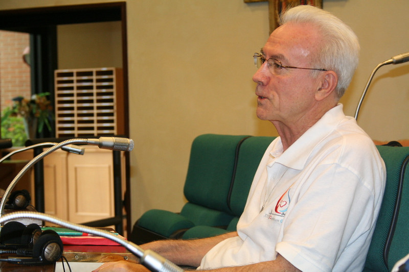 Fr. Claudio Weber accepts his re-election to the council.