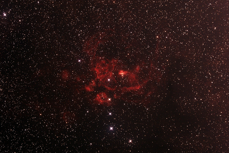 NGC6357 - Gum 66 - War and Peace Nebula in Scorpius - 27/6/2014 (Processed stack)