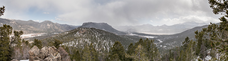Overview of Moraine in Rocky Mountain National PArk