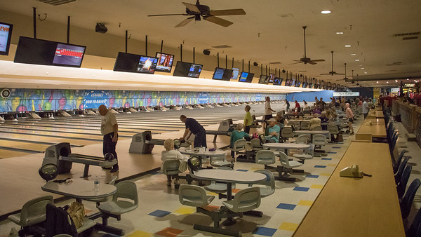 Bowling at Parkway Bowl,  April 2017