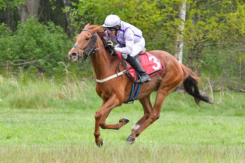 Crindle Carr vinner med Kevin Parkin Blommeröd 200523 Foto: Stefan Olsson / Svensk Galopp