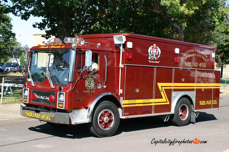 Mahanoy City (Citizens Fire Co. 2) Squad 456: 1987 Mack (X-Wyomissing, PA)