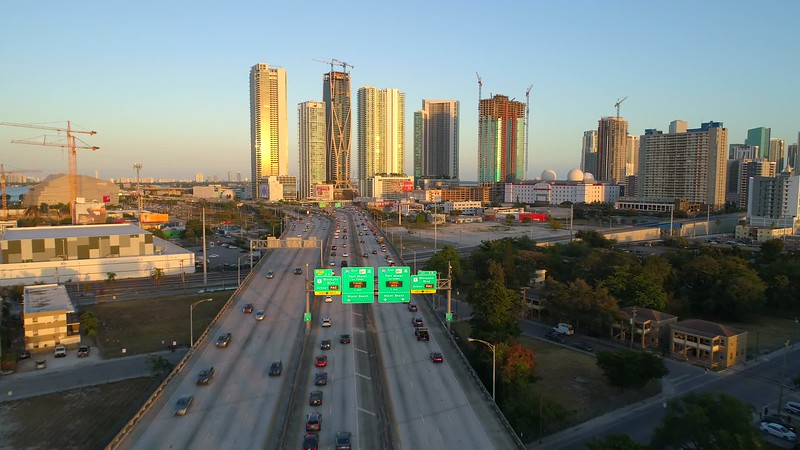 Aerials Downtown Miami shot with a drone