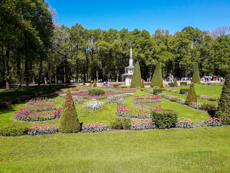 Peterhof seafront royal palace and Nizhniy Park