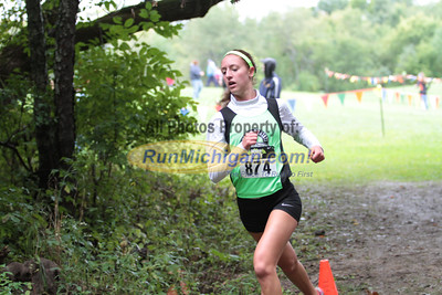Girls D3 at 2.1 mile mark - 2014 Nike Holly Duane Raffin Cross Country Invite
