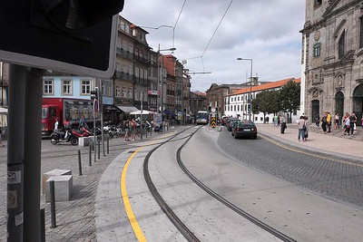 On and from the trams