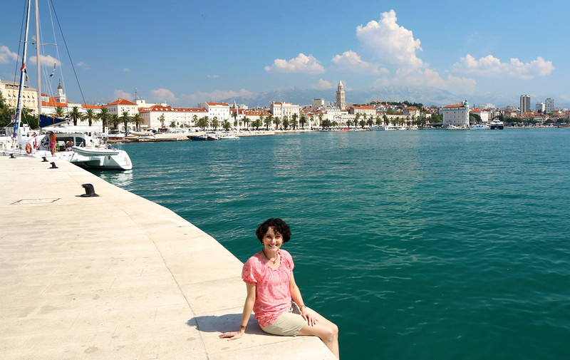 One of my favorite towns of our trip - Split, Croatia