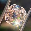 4.03ct Light Fancy Brown Antique Cushion Cut Diamond Halo Ring GIA LFB, SI1 55