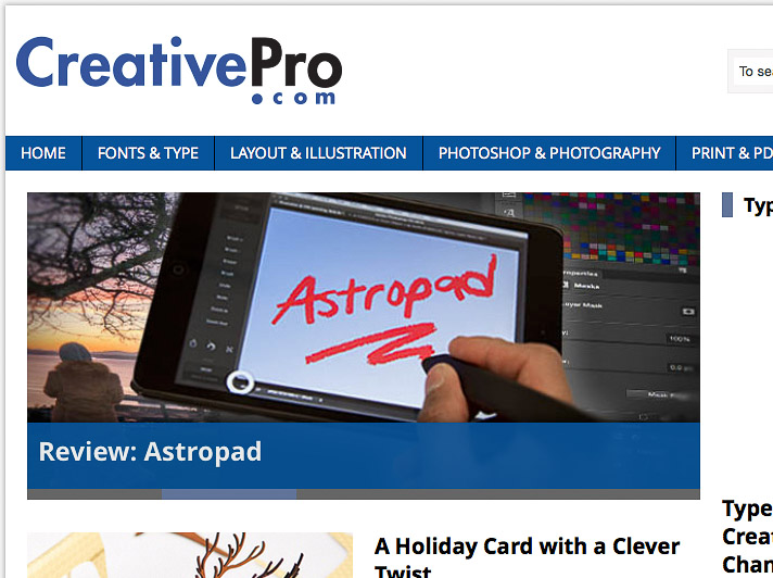 Astropad review on CreativePro.com