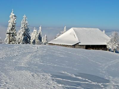 Winterzauber bei minus 13° C beim Napf