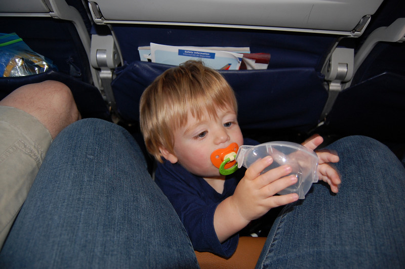 Who knew they don't need to be ON your lap the whole flight
