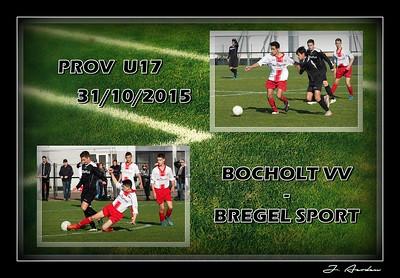 Bocholt VV - Bregel Sport  U17  31/10/2015