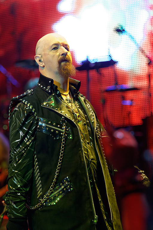 . Rob Halford of Judas Priest at The Fox on Oct. 19, 2014. Photo by Ken Settle