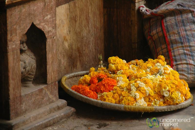 Pile of Flowers - Kathmandu, Nepal