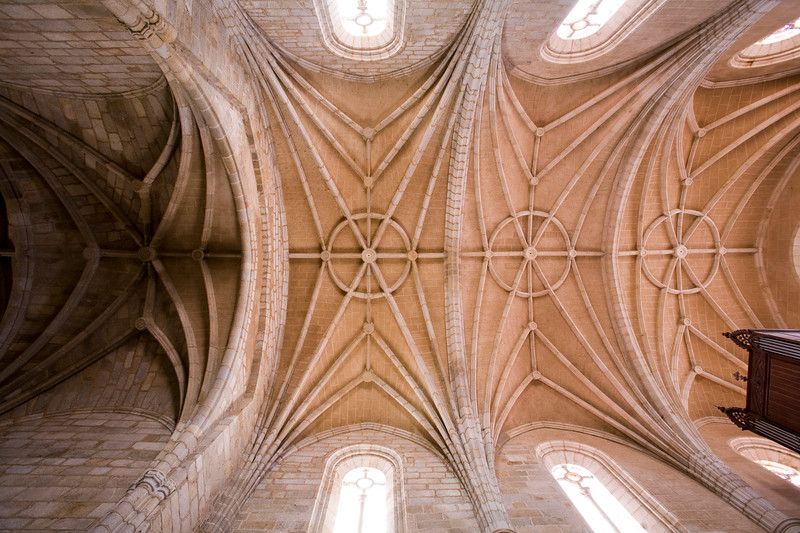 Ceiling of the church of Santos Martires, Brozas, Caceres, Spain