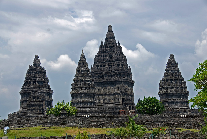Beautiful towers at Prambanan in Jakarta, Indonesia