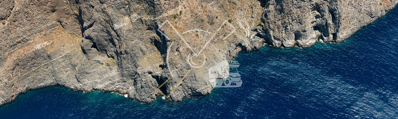 Aerial image of the island of Kos in the Aegean Sea