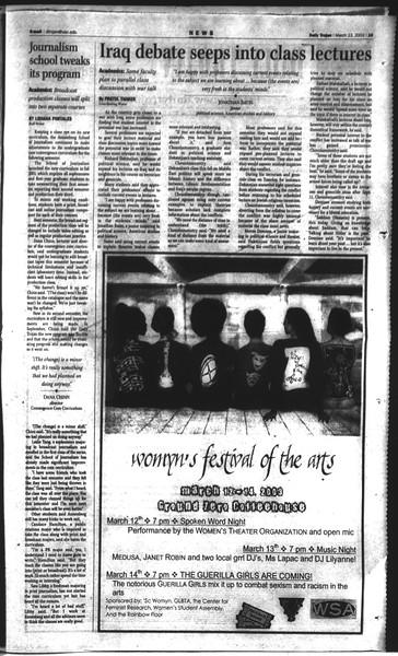 Daily Trojan, Vol. 148, No. 39, March 13, 2003