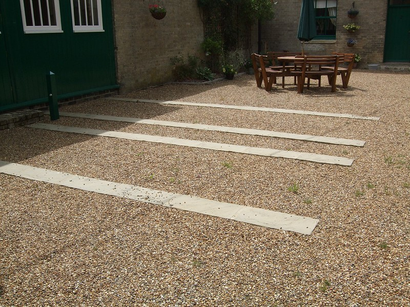 Renovated stone runners to the coach house and restaurant frontage.