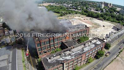 Remington Arms Factory Fire (Bridgeport, CT) 8/19/14