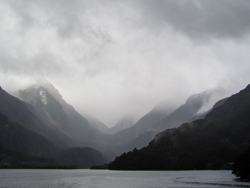 Doubtful Sound in the mist